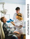 ent doctor or otolaryngologist... | Shutterstock . vector #465648443
