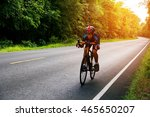 asian man cycling on the road... | Shutterstock . vector #465650207