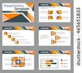 orange and black multipurpose... | Shutterstock .eps vector #465651833