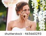 beautiful sexy bride in white... | Shutterstock . vector #465660293
