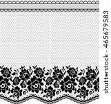 seamless lace pattern  flower...   Shutterstock .eps vector #465679583