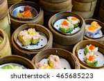 chinese steamed shrim dimsum in ... | Shutterstock . vector #465685223