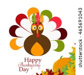 thanksgiving turkey crown with... | Shutterstock .eps vector #465691043