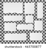 torn paper set   isolated ... | Shutterstock .eps vector #465700877