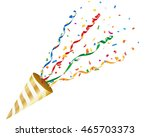 exploding party popper with... | Shutterstock .eps vector #465703373