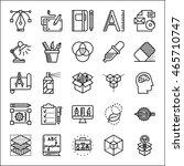 graphic design thin line icons...