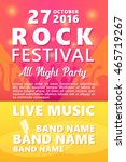 cartoon rock festival design... | Shutterstock .eps vector #465719267