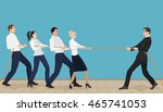 powerful strong businessman... | Shutterstock .eps vector #465741053