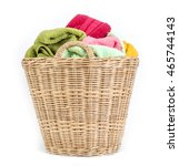 close up color mix  towel in... | Shutterstock . vector #465744143