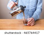 brewing coffee siphon. step by... | Shutterstock . vector #465764417