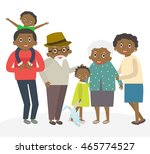 happy african family portrait.... | Shutterstock .eps vector #465774527