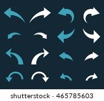 undo and redo vector icon set.... | Shutterstock .eps vector #465785603