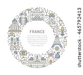 france and paris city concept.... | Shutterstock .eps vector #465792413