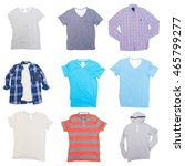 collage of clothes on a white... | Shutterstock . vector #465799277