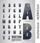 vector alphabet mosaic font low ... | Shutterstock .eps vector #465805163