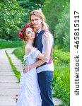 bride and groom. wedding. love... | Shutterstock . vector #465815117