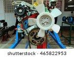 closeup of modern automobile... | Shutterstock . vector #465822953
