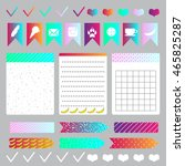 vector stickers  price tag ... | Shutterstock .eps vector #465825287