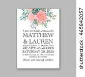 wedding invitation template... | Shutterstock .eps vector #465842057