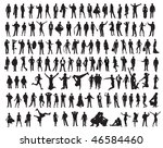 silhouettes of the people.... | Shutterstock .eps vector #46584460