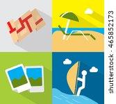 travel icons set | Shutterstock .eps vector #465852173