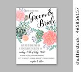 wedding invitation template... | Shutterstock .eps vector #465856157