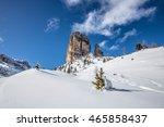 Snowy Hillside Below Bastion...