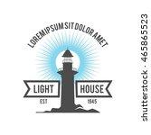 lighthouse logo design template | Shutterstock .eps vector #465865523