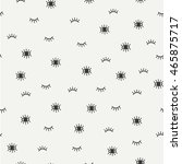 hand drawn seamless pattern... | Shutterstock .eps vector #465875717
