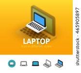 laptop color icon  vector...