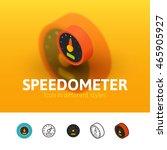 speedometer color icon  vector...