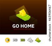go home color icon  vector...