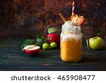 apple cider float with caramel... | Shutterstock . vector #465908477