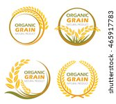 circle paddy rice organic grain ... | Shutterstock .eps vector #465917783