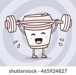 vector illustration of takeaway ... | Shutterstock .eps vector #465924827