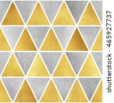 gold and silver triangles... | Shutterstock . vector #465927737