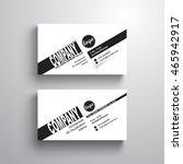 black white design typography... | Shutterstock .eps vector #465942917