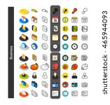 set of icons in different style ... | Shutterstock .eps vector #465944093