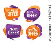 best offer  vector collection... | Shutterstock .eps vector #465967463