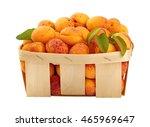 Ripe Mellow Fresh Apricots Wit...