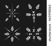 set of uncommon ethnic vector... | Shutterstock .eps vector #465998063