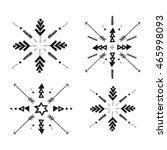 set of uncommon ethnic vector... | Shutterstock .eps vector #465998093