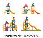 set of different children slide ... | Shutterstock .eps vector #465999173