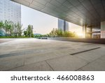 empty brick floor with... | Shutterstock . vector #466008863