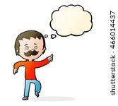 cartoon man with mustache... | Shutterstock . vector #466014437