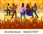 group of people performing live ... | Shutterstock .eps vector #466027697