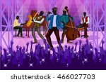 group of people performing live ... | Shutterstock .eps vector #466027703