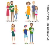 vector set of people with... | Shutterstock .eps vector #466029083