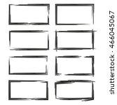 blank grunge frame set | Shutterstock .eps vector #466045067