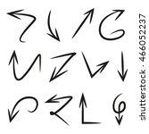 hand drawn vector arrows set | Shutterstock .eps vector #466052237